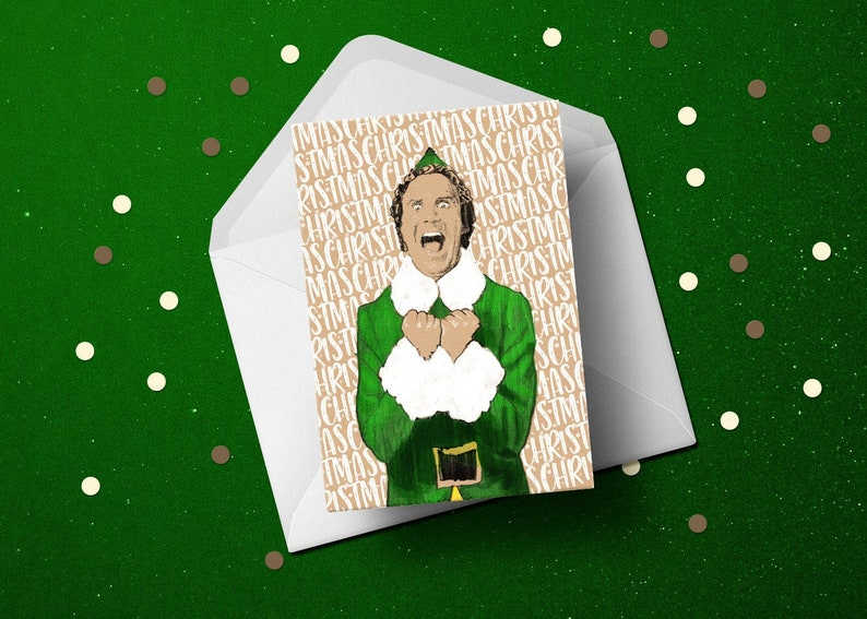 Buddy the Elf Christmas happy holidays seasons funny greeting image 1