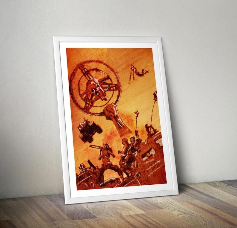 Mad Max Fury Road Tom Hardy movie fan A4 wall art drawing image 0
