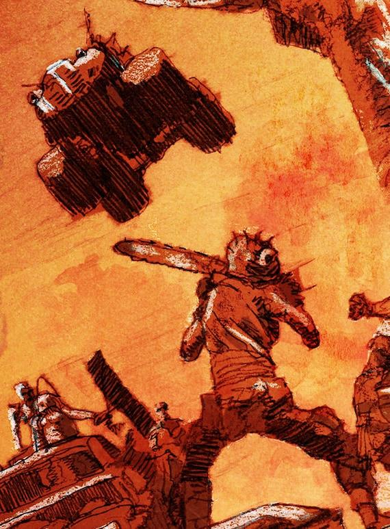 Mad Max Road Warrior Canvas Print A4 Size 297 x 210mm