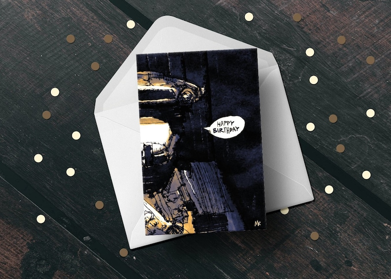 Star Wars birthday greeting card Return of The Jedi 80s movie image 0