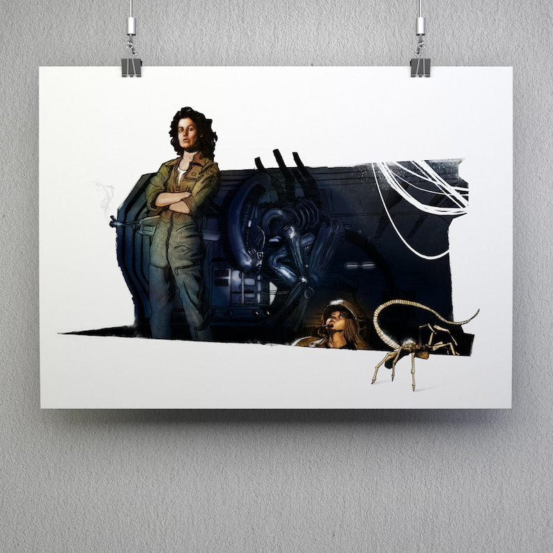 Aliens Sigourney Weaver xenomorph 80s horror movie film fan image 0