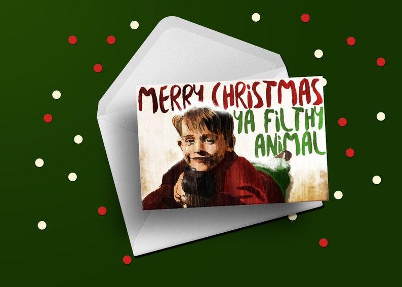 Home Alone Christmas seasons greeting card Macaulay Culkin image 0