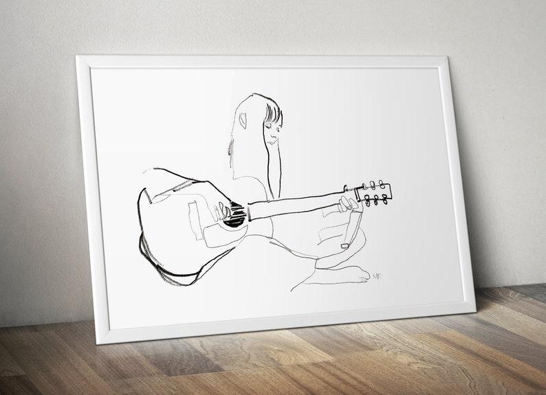 Joni Mitchell 70s retro music musician singer songwriter wall image 1