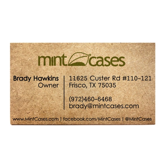 image 0 - Rustic Business Cards