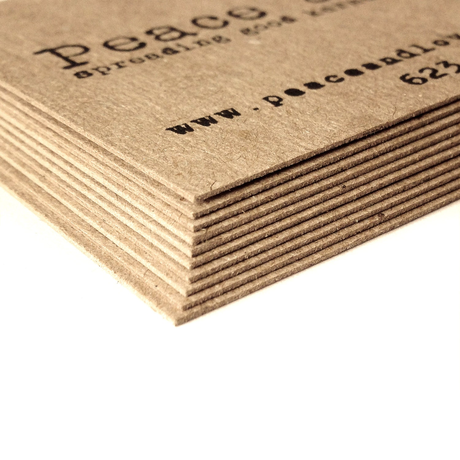 image 0 - Kraft Business Cards