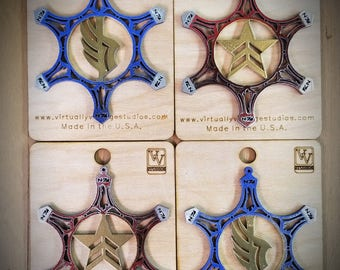 4 Pack Mass Effect Inspired Snowflake Ornament