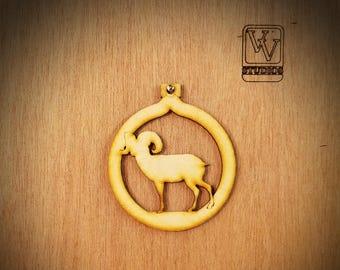 Bighorn Sheep Cutout Ornament