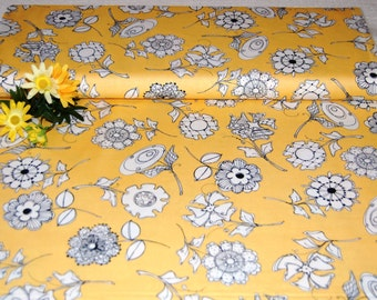 """Loralie Designs - """"Bee Happy""""! Paper Posies Yellow Fabric BTY"""