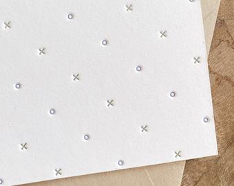Letterpress XO Note Cards