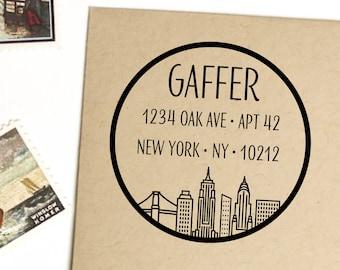 New York City return address stamp, self inking