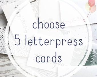 Make your own letterpress card set