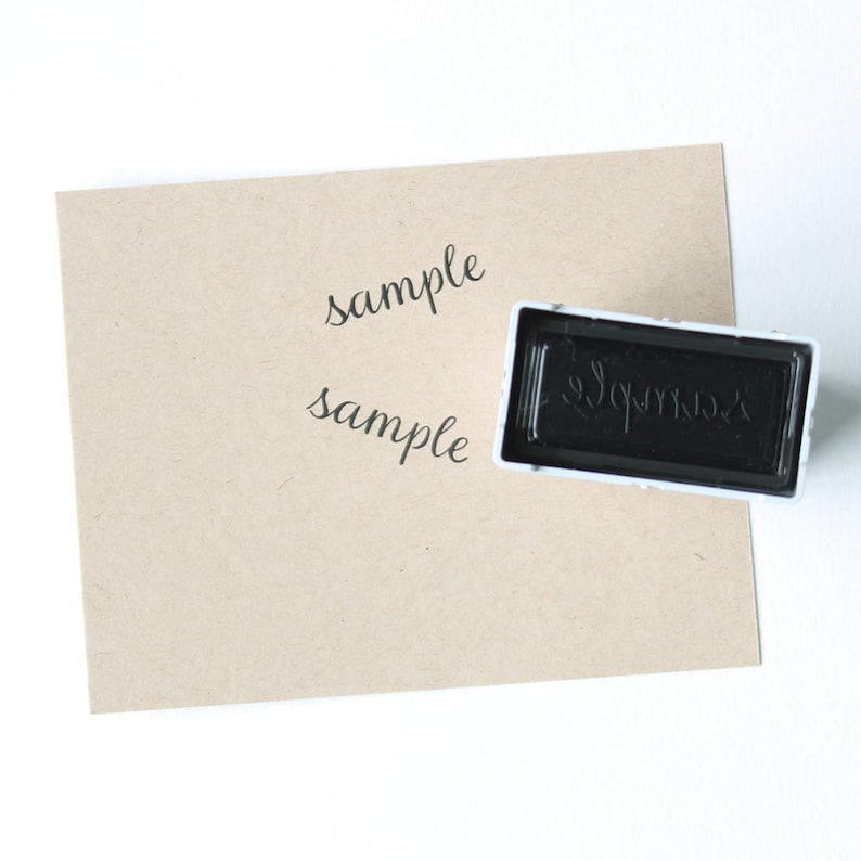 Self Inking Return Address Stamp black self inking stamp, round stamp with monogram