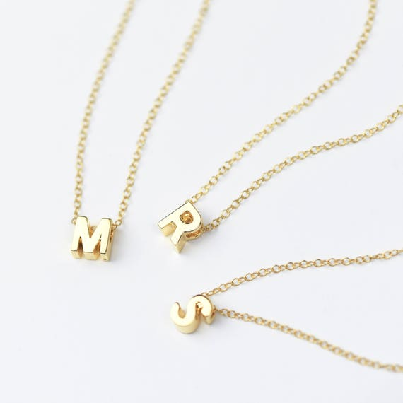 bccb59703cd22 SALE Gold Initial Necklace Silver Initial Necklace Letter