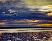 Sunset on Lake Photo, Dusk Dawn Nature Wall Art, Upper Peninsula setting sun, Michigan sunsets, Scenic Wall Art, Nautical Print, Cabin Print