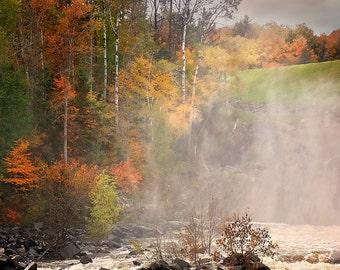 Michigamme Reservoir Fall Print, Fall Foliage Print, Fall Pictures, Fall Photograph, Fall River, Autumn River, Fall Foliage, Fall Landscape