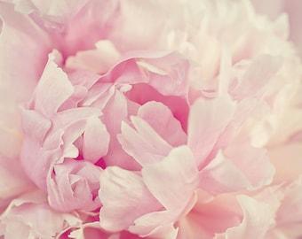 Pink Peony Art Print, Spring Home Decor, Peony Print, Peony Wall Art, Pink Peony Decor, Blush Pink Peony, Peonies Photography, Pale Pink Art