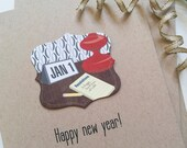 custom new year cards mid century modern new year happy 2016 cards personalized card holiday the best is yet to come 414