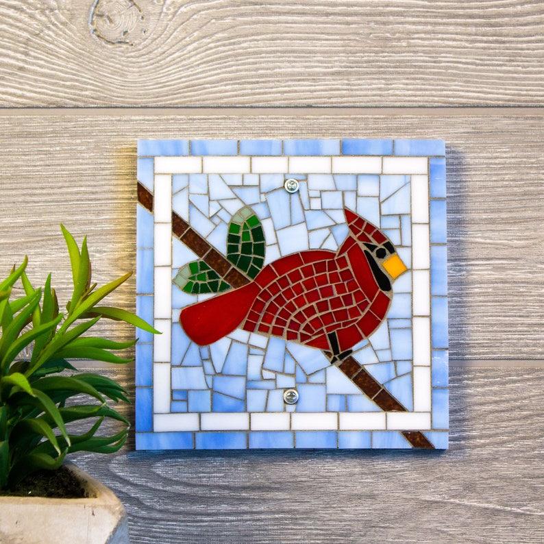 Kardinal Indoor Oder Outdoor Wandkunst Glasmalerei Etsy