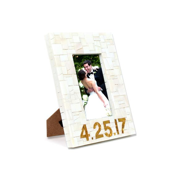 Custom Gold and Beige Wedding Date Picture Frame   Etsy