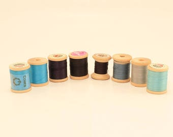 Wooden Thread Spools, Wood Thread Spools, Thread Spools, Wood Spools, Vintage Spools
