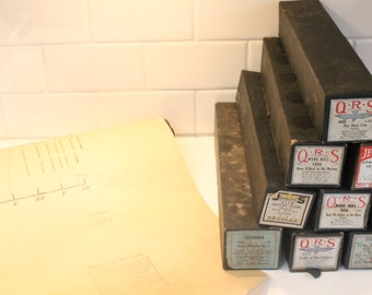 Player Piano Rolls, Piano, Sheet Music, Piano Rolls, Piano Music, QRS piano rolls, antique player piano rolls