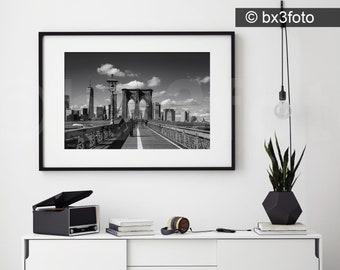 Brooklyn Bridge black and white photo