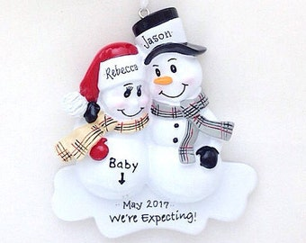 Expecting Parents Christmas Ornament / We're Expecting Ornament /  New Parents Ornament / New Baby Ornament / Snowman