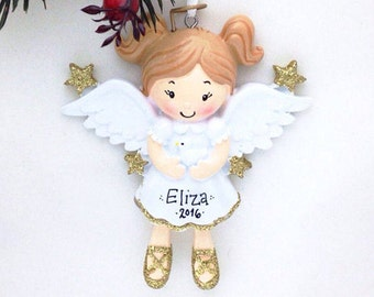 Angel Ornament / Personalized Christmas Ornament / Personalized Toddler Ornament / Personalized Child Ornament / Gift for kids