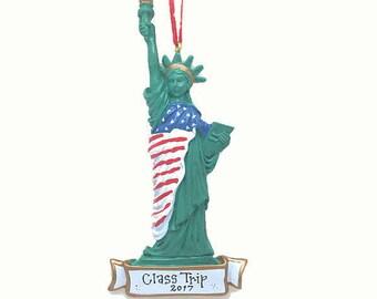 Statue of Liberty Christms Ornament / New York Ornament / Big Apple / Manhattan Ornament / Custom Names or Message