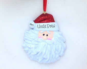 Santa Personalized Christmas Ornament - Custom Name or Message - Christmas Gift