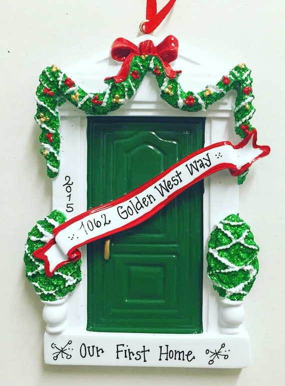 Personalized Christmas Ornament.Green Door Personalized Christmas Ornament Green Door Ornament Housewarming Gift New Home Bless This Irish House