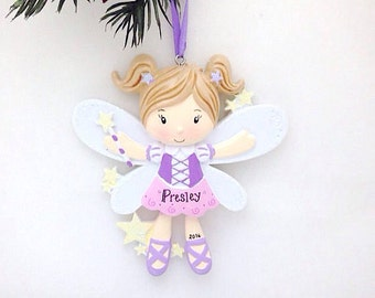 Fairy Girl Ornament / Personalized Christmas Ornament / Personalized Toddler Ornament / Christmas Gift / Little Girl Ornament