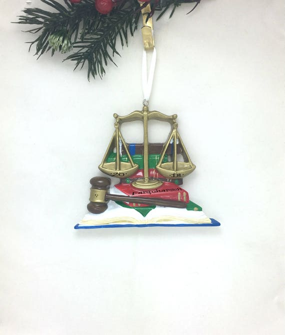 Lawyer Personalized Christmas Ornament / Judge Ornament