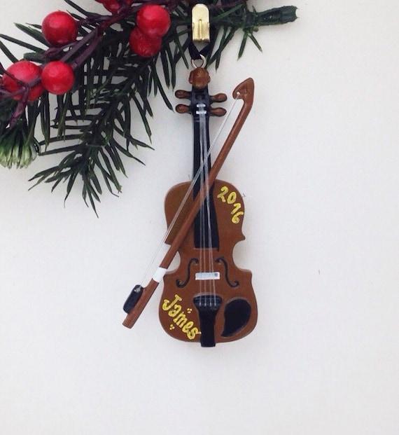 Violin Personalized Christmas Ornament - Violin Ornament - Music Ornament -  Personalized Ornament - Violin Personalized Christmas Ornament Violin Ornament Etsy