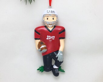 Football Player Personalized Christmas Ornament / Football Ornament / Football Team / Hand Personalized