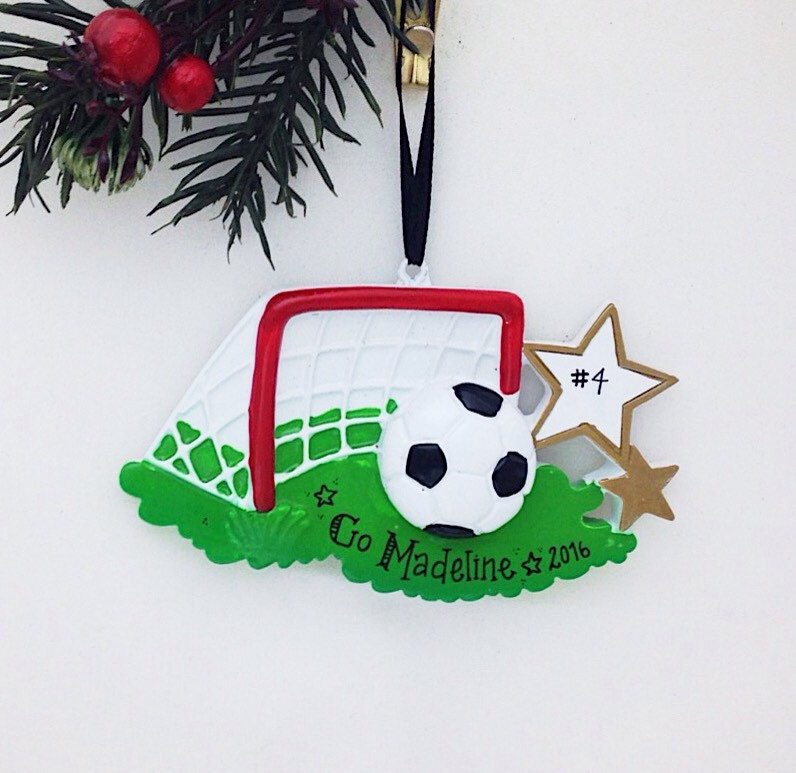 Soccer ornament Personalized Christmas Ornament | Etsy