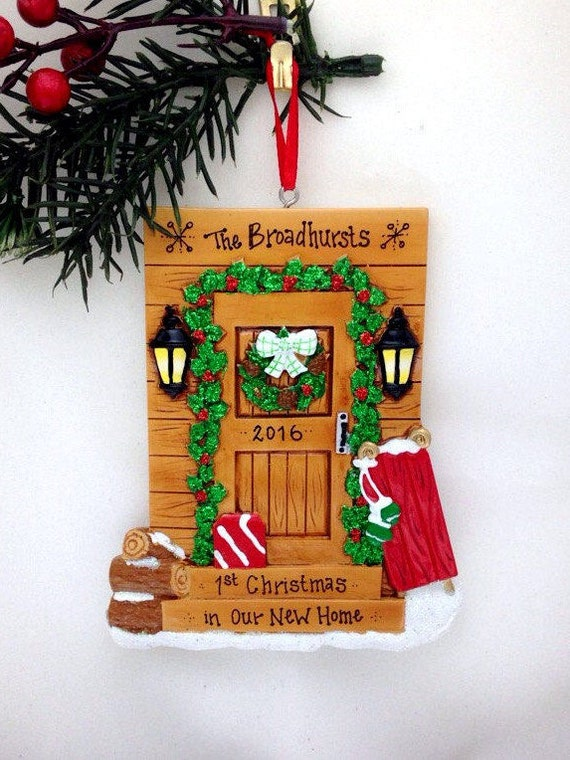 OUR NEW HOME DOOR PERSONALIZED CHRISTMAS ORNAMENT
