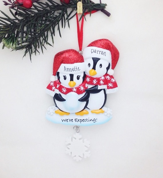 Expecting Parents Personalized Christmas Ornament / We're ...
