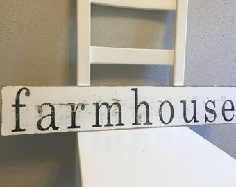 Made to Order Rustic Wooden farmhouse Sign - Farmhouse Decor - Wall Art - Vintage Style Signs - Distressed Sign - Wooden Signs