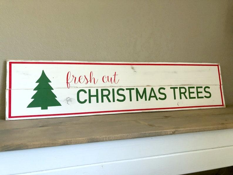 Fresh Cut Christmas Trees Sign.Fresh Cut Christmas Trees Sign Christmas Wooden Sign Distressed Sign Christmas Decor Holiday Decor Christmas Sign Farmhouse Christmas