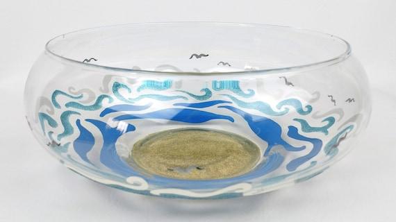 Beach Themed Vase Beach Decor Hand Painted Vases Decorative Etsy