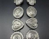 BREATHTAKING Geraldine Yazzie NAVAJO Hand Stamped Sterling Silver CONCHO Belt