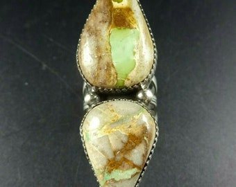 Navajo Sterling Silver Boulder Turquoise Ring Size 7 Boyd G