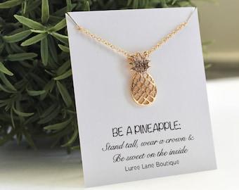 Pineapple necklace/ Bridesmaid necklace/ Pineapple pendant/ Friendship necklace/ Bridesmaid jewelry/ Birthday necklace/ Pineapple jewelry