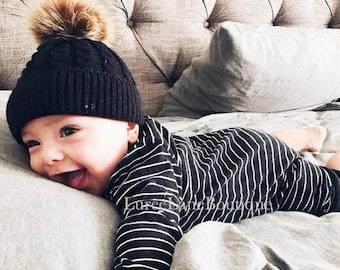 8bc63836113 Baby wool beanie Baby pom beanie Baby beanie Toddler beanie Baby winter hat Baby  hat Knitted baby beanie Knit baby hat Newborn baby beanie