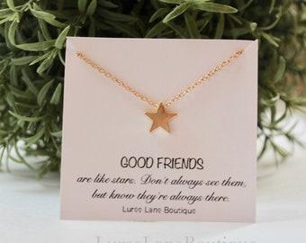 Star necklace/Dainty Star necklace/Bridesmaid gift/Best friend gift/Best friend necklace/Friendship necklace/Bridesmaid jewelry/Star pendant
