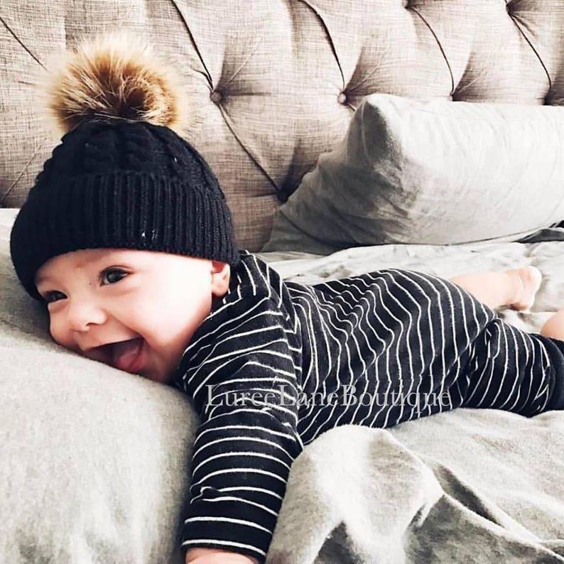 Baby wool beanie Baby pom beanie Baby beanie Toddler  c2c2a4aa5ee