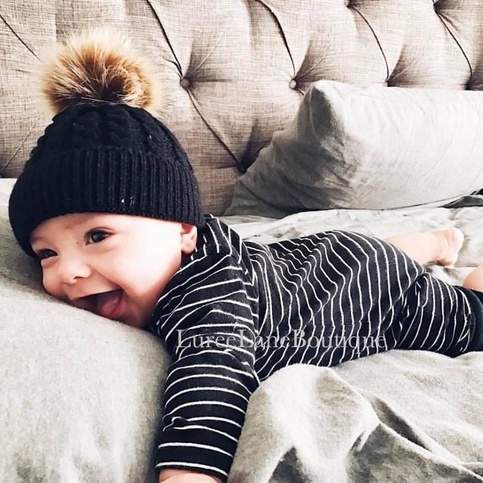 be532fd7c4f Baby wool beanie Baby pom beanie Baby beanie Toddler