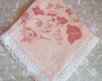 Hanky c Vintage WW1 WW2 Silk Sweetheart Handkerchief