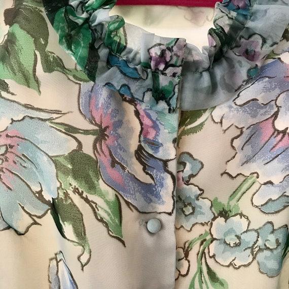 Watercolor Floral Tea Dress - image 2